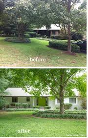 Painting Brick Exterior House - white painted brick exterior before and after bella tucker