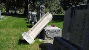 cemetery headstones more than 70 headstones vandalized at hill post register