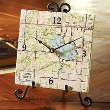my town custom map clock u0026 easel national geographic store