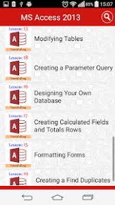 microsoft access for android app ms access tutorial free 2 0 apk for iphone android