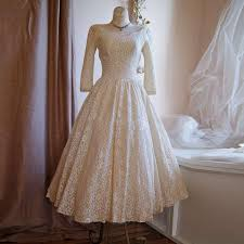 retro wedding dress pretty lace tea length wedding dresses 1950 s retro wedding dress