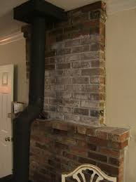 Remove Brick Fireplace by Nine Red How To White Wash The Fireplace