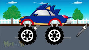 monster truck video for kids sonic truck monster trucks for children video for kids video