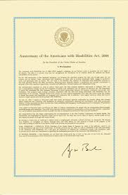thanksgiving proclamation 1789 anniversary of the americans with disabilities act