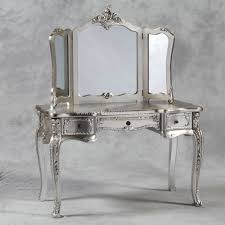 antique dressing table with mirror dressing table and triple mirror in antique silver
