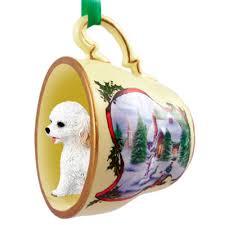 cockapoo ornament figurine teacup white