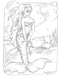 coloring pages coloring pages of mermaids and dolphins