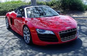 Audi R8 Red - test drive 2011 audi r8 v10 spyder nikjmiles com