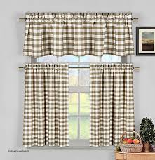 duck river window curtains unique taupe beige gingham checkered