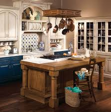 Country Kitchen Idea White Granite Countertop Built In Oven Corner French Country