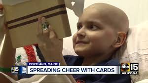 boy with terminal cancer asking for christmas cards youtube