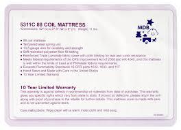 Jenny Lind Crib Mattress Size by Davinci Twilight Hypoallergenic Universal Fit Wat 88 Coil Ultra