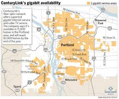 Verizon Coverage Map Oregon by Centurylink Maps Its Gigabit Footprint In Portland Oregonlive Com
