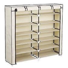 amazon shoe storage cabinet amazon com songmics 7 tier portable shoe rack organizer 36 pair