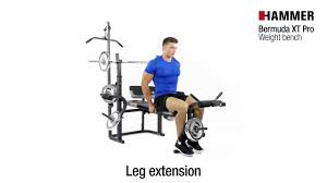 weight bench bermuda xt pro hammer youtube