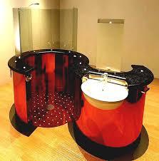 bathroom sink ideas dark khaki futuristic shower wall mounted