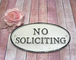 no soliciting etsy