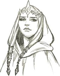 elf princess sketch image public domain vectors