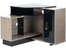 meuble tv avec bureau bureau d angle noir laque bureau laquac noir bureau angle noir