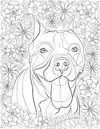 stress pit bulls downloadable 10 coloring book