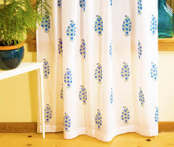 Blue Green Sheer Curtains Curtains For Living Room Blue Patterned Curtains Block