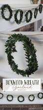 christmas craft diy boxwood wreath garland landeelu com