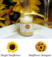 sunflower wedding favors lmk gifts sunflower candle favors with personalized sleeve that