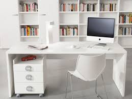 L Shaped White Computer Desk by Small Office Interior Cool Green Painted Office Wall With L