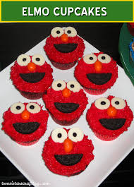 how to make elmo cupcakes two crafting