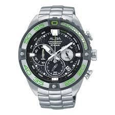 Jam Tangan Alba alba chronograph au2169x1 silver stainless band s