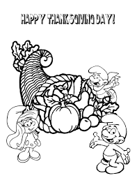 smurfs thanksgiving fruits coloring u0026 coloring
