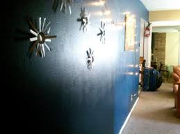 dark blue hallway wall a romantic accent in our boring house