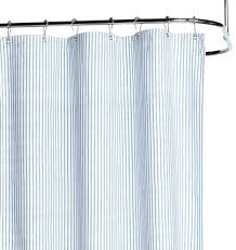 Blue Ticking Curtains Blue And White Ticking Stripe Shower Curtain Shower Curtains Design
