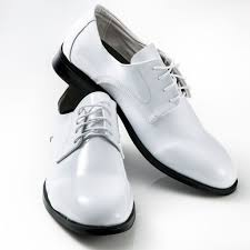 white tuxedo shoes patent leather round toe mens perfect tux