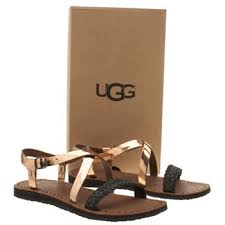 ugg jordyne sale womens gold ugg australia jordyne leather sandals shoes canada