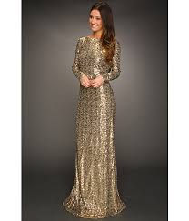 mischka cowl back gown gold zappos com free shipping both ways