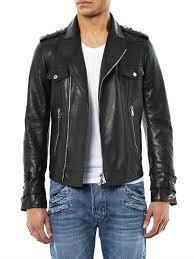 black leather biker jacket balmain leather biker jacket in black for men lyst