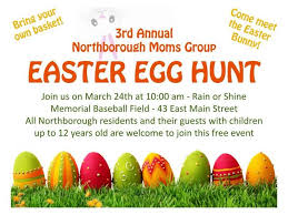east egg northborough annual town easter egg hunt announced northborough
