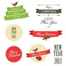 set vintage christmas labels and badges u2014 stock vector ivan