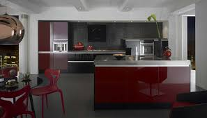 red kitchen island appliances high gloss red kitchen island with red dining chairs