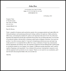 professional production operator cover letter sample u0026 writing