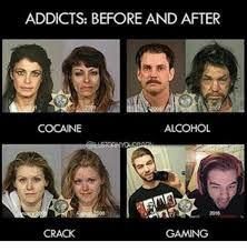 Before And After Meme - addicts before and after cocaine alcohol crack gaming meme on sizzle