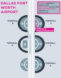 Dfw Terminal Map Airports Guide U2014 Lyft Dfw