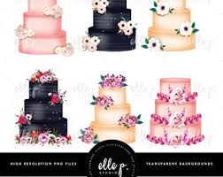 wedding cake clipart watercolor clipart watercolor cake bakery clipart cupcake
