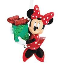 disney 3 minnie mouse holding gift 3d ornament shopko