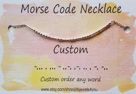 morse code necklace personalized custom morse code necklace best friend gift personalized