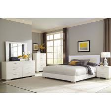 Lighted Nightstand Fredrika Lighted Headboard Modern Bedroom Set Eurway