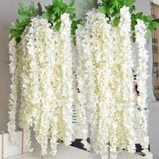 cheap garlands for weddings white artificial silk hydrangea flower wisteria garland