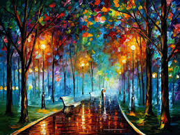 landscape wall art oil painting on canvas by leonid afremov