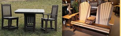 Poly Picnic Tables by Amish Custom Furniture And Accents Amish Built Outdoor Furniture